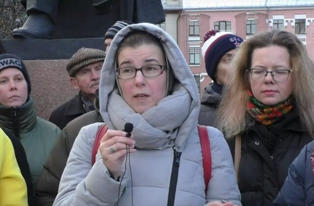 Обращение родителей к губернатору на воскресной акции, прошедшей в Нижнем Новгороде